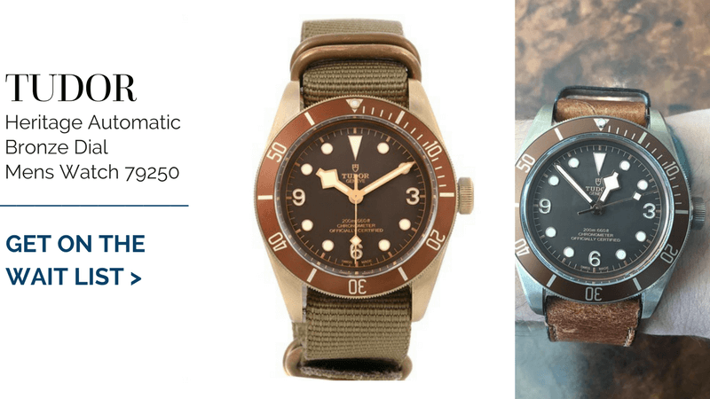 Tudor Heritage Automatic Bronze Dial Mens Watch