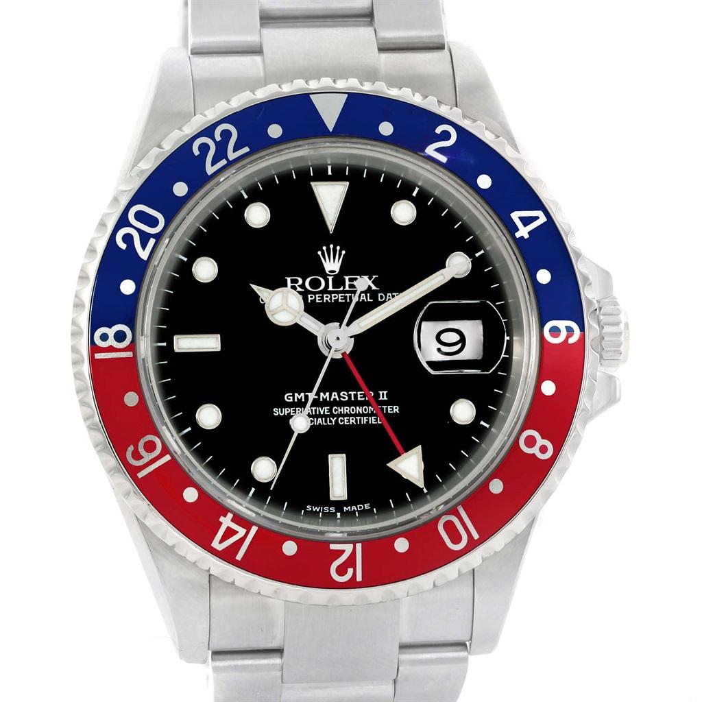 Rolex GMT Master II Pepsi Bezel Steel Automatic Mens Watch