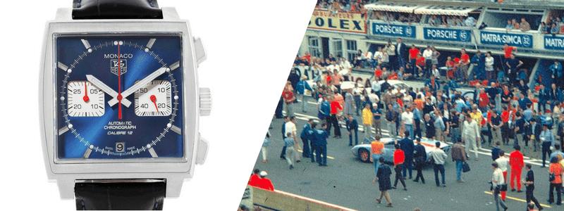 Tag Heuer Monaco Calibre 12 Blue Dial Chronograph Mens Watch
