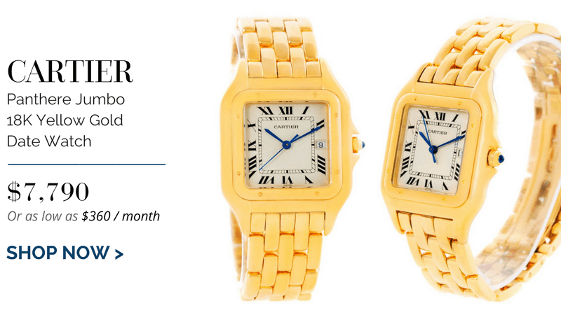 Cartier Panthere Jumbo 18K Yellow Gold Date Watch