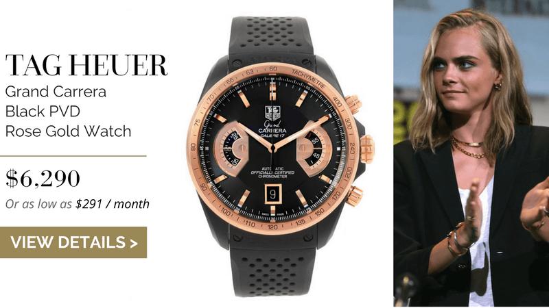 Tag Heuer Grand Carrera Black PVD Rose Gold Watch
