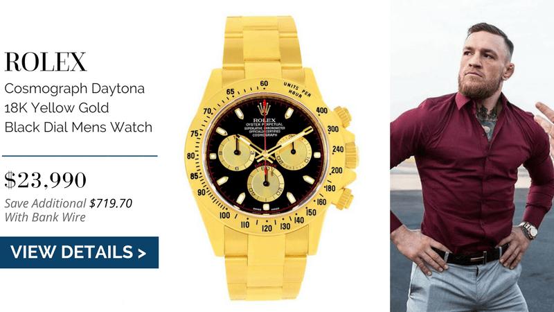 Rolex Cosmograph Daytona 18K Yellow Gold Black Dial Mens Watch