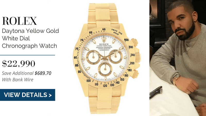 Rolex Daytona Yellow Gold White Dial Chronograph Watch