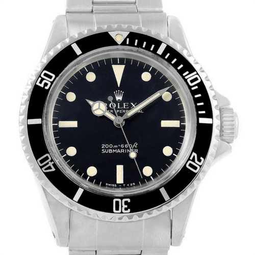 olex Submariner Date Stainless Steel Mens Vintage Watch