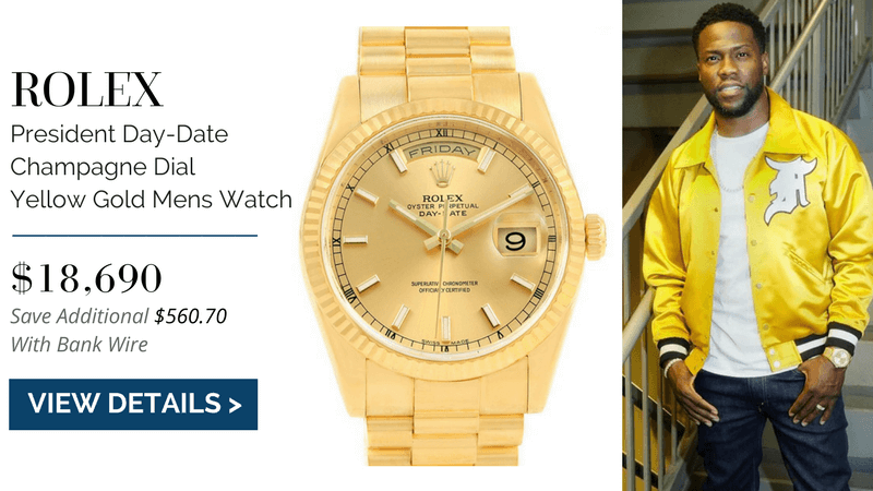 Rolex President Day-Date, kevin hart watch collection