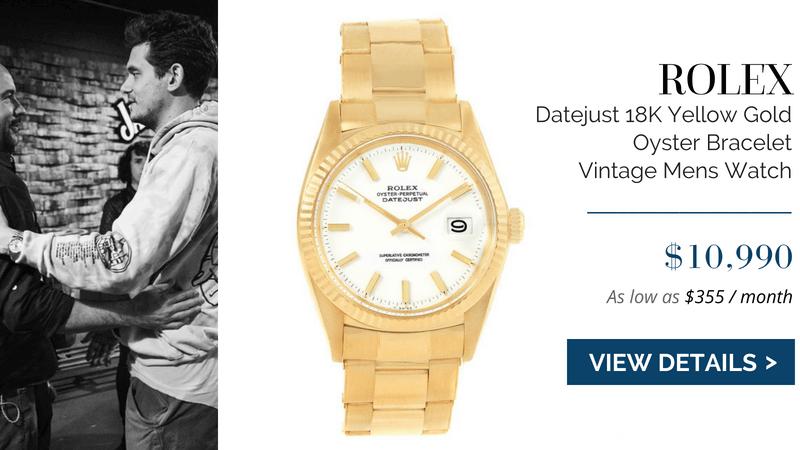 Rolex Datejust 18K Yellow Gold Oyster Bracelet Vintage