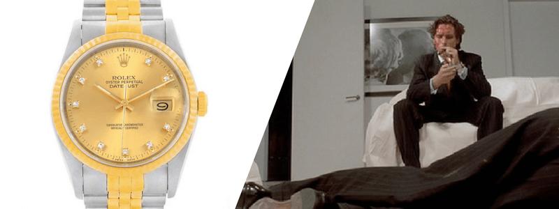 Rolex Datejust Mens Steel 18K Yellow Gold Diamond Watch
