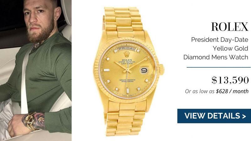 Rolex President Day-Date Yellow Gold Diamond Mens Watch