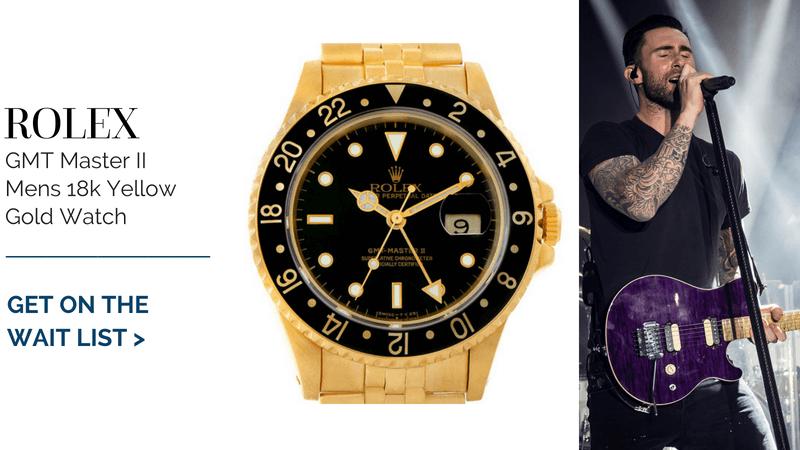 Rolex GMT Master II Mens 18k Yellow Gold