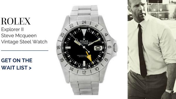 Rolex Explorer II Steve Mcqueen Vintage Steel Watch