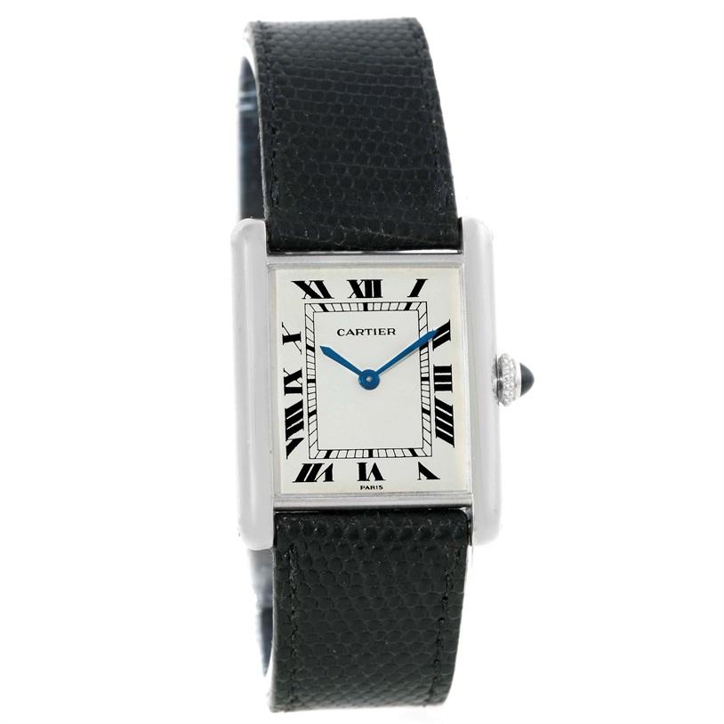 Cartier Tank Classic Paris 18k White Gold Ultra Thin Mechanical Watch