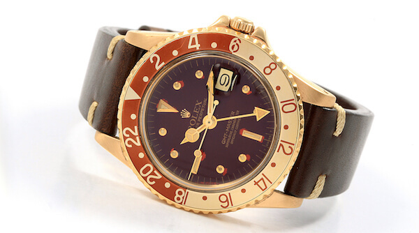 Rolex GMT Master Rootbeer Gold Nipple Dial