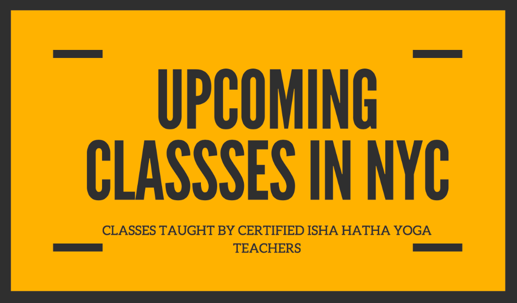 UPCOMING Classes in NEW YORK CITY