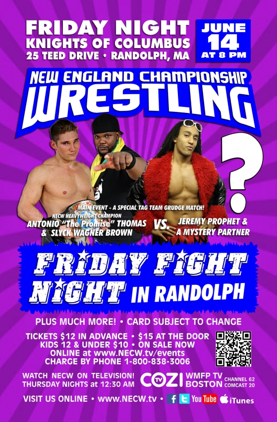 NECW presents FRIDAY FIGHT NIGHT in Randolph!