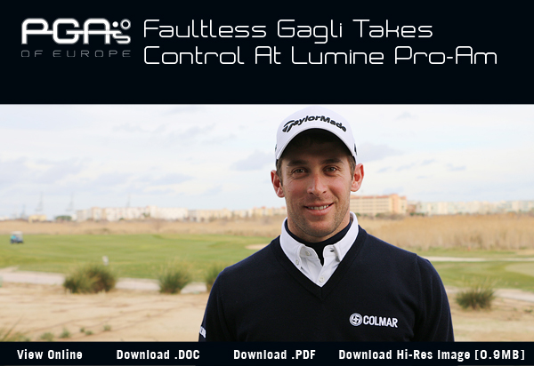 Faultless Gagli Takes Control At Lumine Pro-Am - 2017 Lumine International Pro-Am