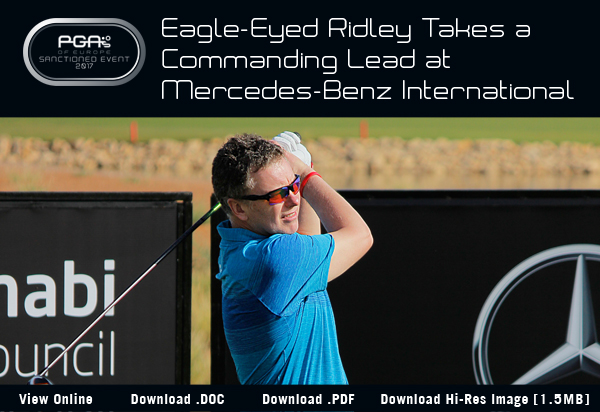 Eagle-Eyed Ridley Takes a Commanding Lead at Mercedes-Benz International - 2017 Mercedes-Benz International Pro-Am