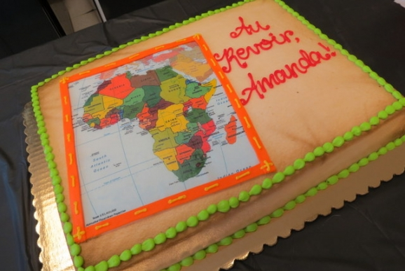 Africa Going Away Cake