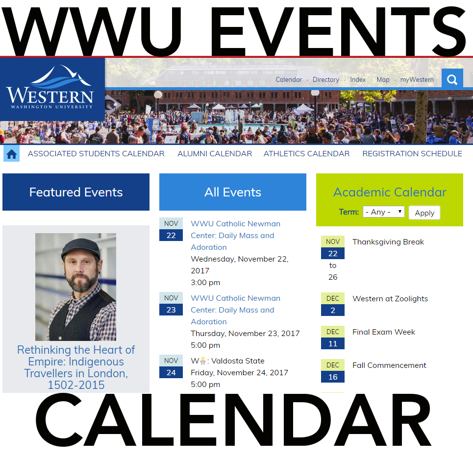 see more on the events calendar page at calendar.wwu.edu