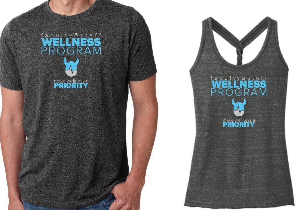 Photo of Faculty and Wellness Program's Tee Shirts and Tank Tops