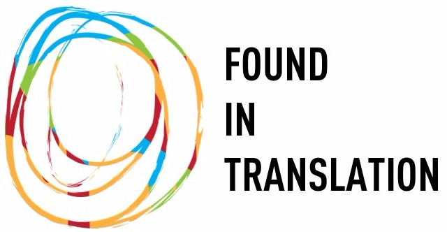 """Found in Translation"" in large black text. To the left, the Bodies in Translation logo, which has overlapping circles in blue, green, red, and yellow."