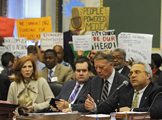 Philadelphia City Council hearing on the proposed franchise agreement with Comcast