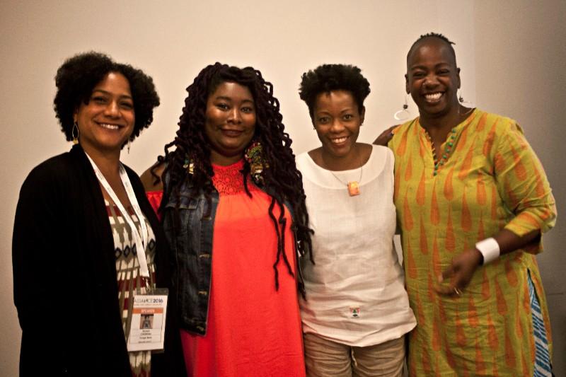 Sonya Childress, N'Jeri Eaton, Melinda Weekes, Ashara Ekundayo