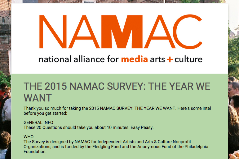 The 2015 NAMAC Survey: The Year We Want