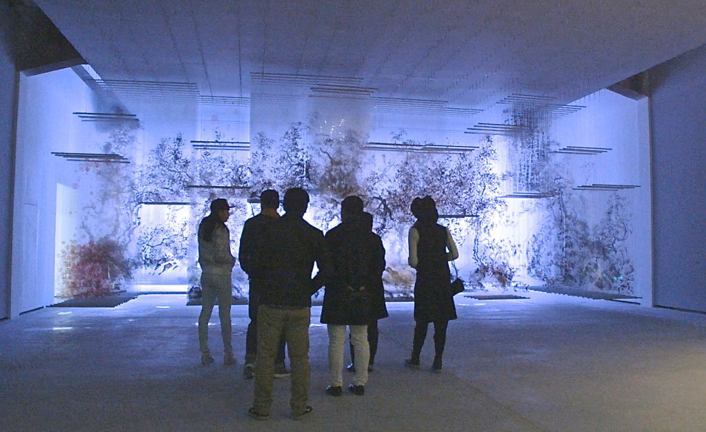 installation by Xia Xiaowan at Beijing Minsheng Art Museum (photo by Lydia M. Chen)