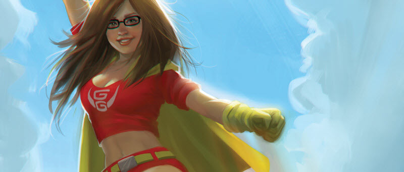 The Nerd-becomes-cool-Superhero trope gets flipped on its head in Geek-Girl