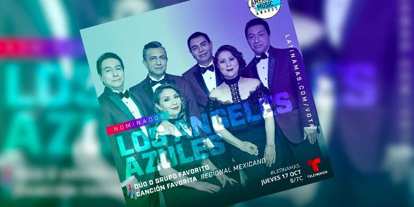 LOS ÁNGELES AZULES SON NOMINADOS A DOS LATIN AMERICAN MUSIC AWARDS 2019