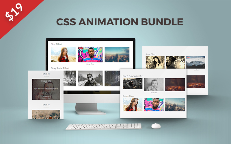 CSS Hover Animations Bundle