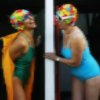 Ladies laughing in swimsuits