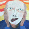 Chris Miller's self portrait, in the style of Edvard Munch's The Scream