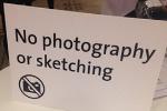 No sketching V&A sign