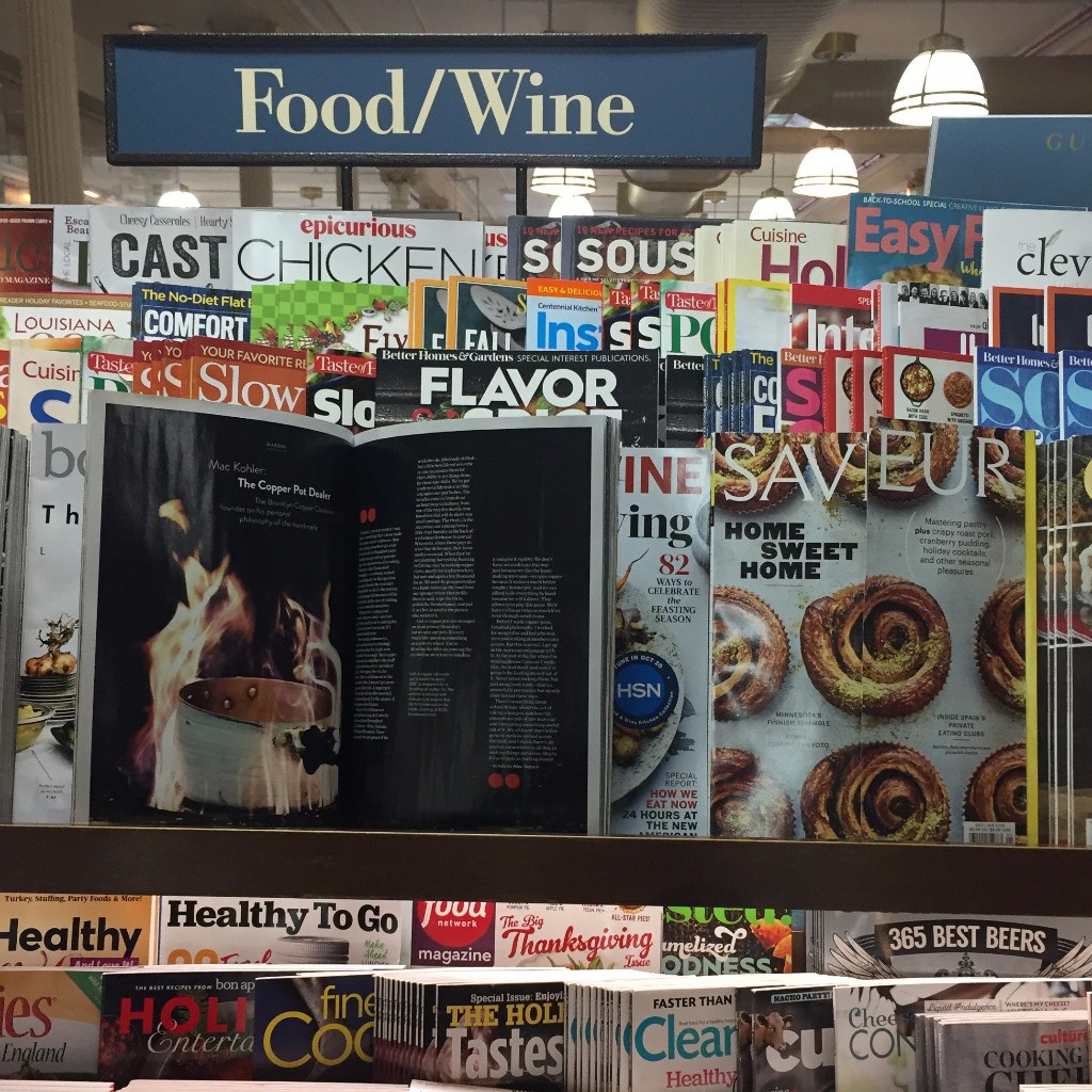 Saveur Magazine on newsstands thorough December