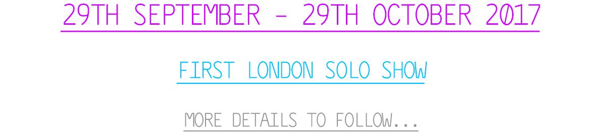 Solo Show Dates