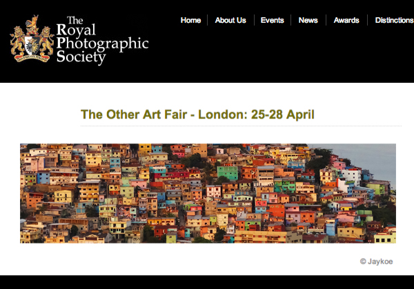 Royal Photographic Society feature Formations IV / The Other Art Fair