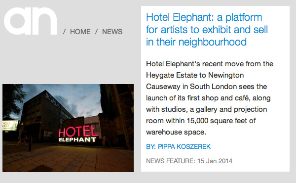 a-n HOTEL ELEPHANT INTERVIEW