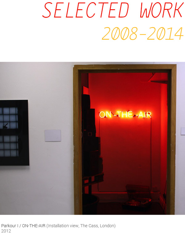 Selected Work 2008 - 2014