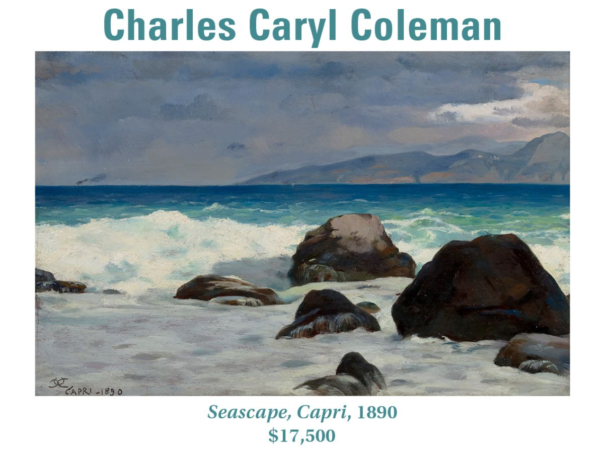 Charles Caryl Colman, Seascape, Capri, 1890