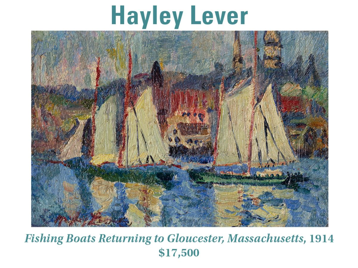 Hayley Lever, Fishing Boats Returning to Gloucester, Massachusetts, 1914