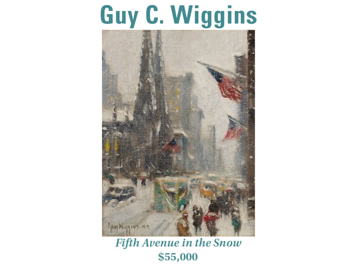Guy C. Wiggins, Fifth Avenue in the Snow