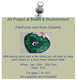 Art Project: Paint your own Rose Garland