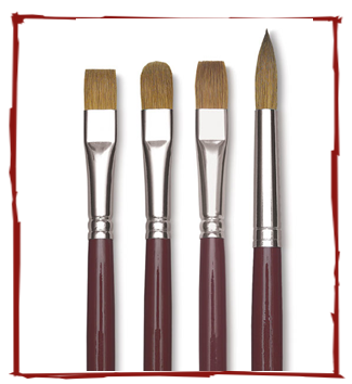 SALE Davinci Red Sable Brushes