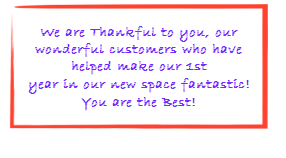 Thanks to Our Wonderful Customers