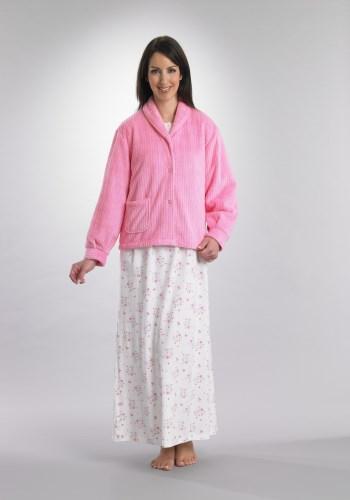 Chenille Rib Bed Jacket