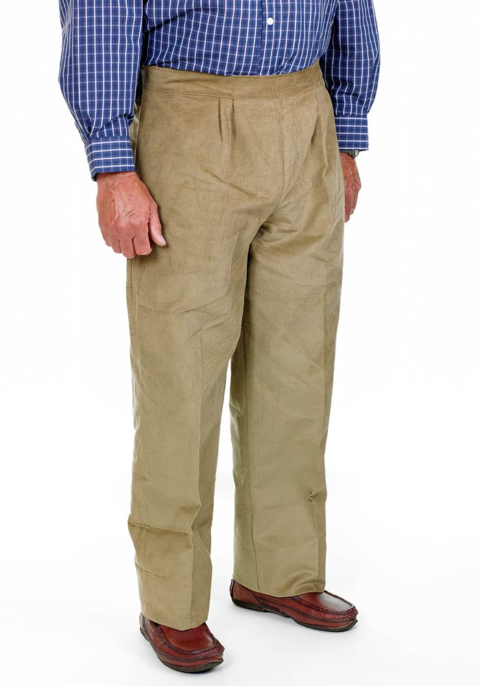 Drop Front Cord Trousers