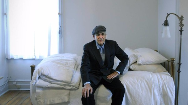 Leonard Cohen in his Montreal home