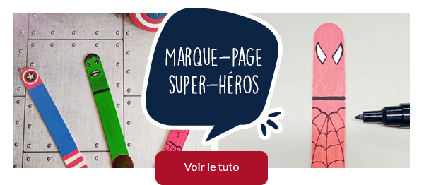 Marque-page super-héros