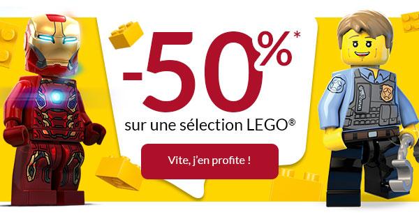 -50%* sur une sélection LEGO